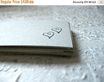 20% Off CIJ Sale SALE Hearted Gift Label Tags - Rustic Sage Green / Versatile Simple Sweet Bridal Shower Paper Goods, Romance Wedding Name C