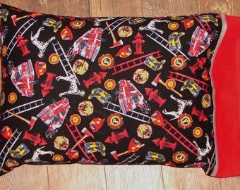 Firefighter Fireman Firetruck Pillowcase