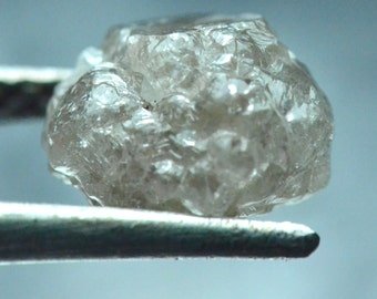 4ct 9mm Conflict free Natural Champagne rough diamond 9 by 8.8 by 7.3mm