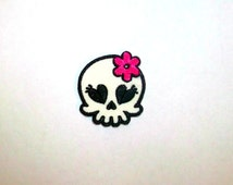Sweetie skull iron on patch