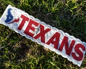 HOUSTON TEXANS NFL Football Sports Team Stretch Lace Swarovski Crystals Headbands - Handmade - Let Us Design One For You