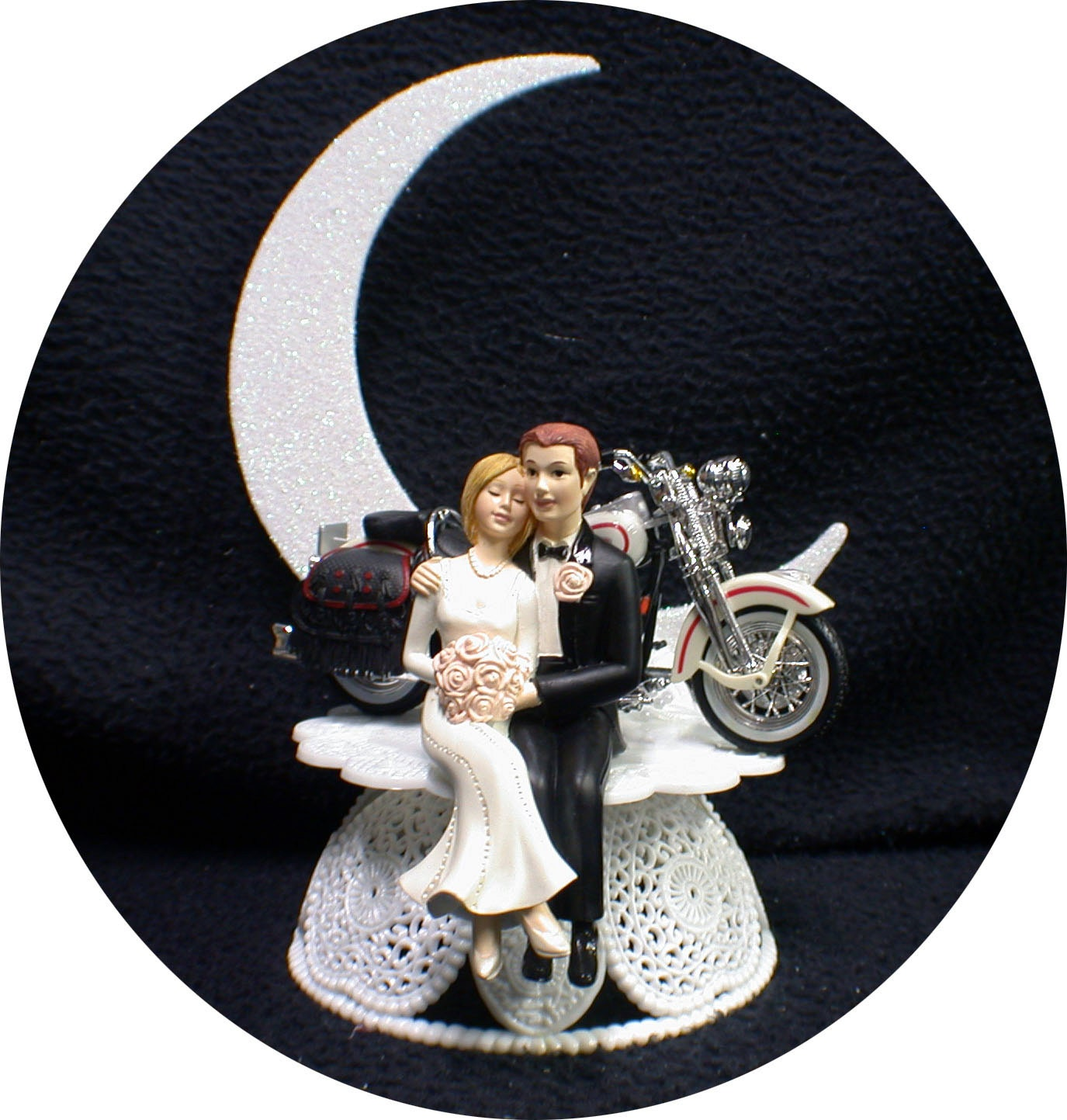 harley davidson wedding cake topper uk wedding cake topper w diecast white harley davidson 15079
