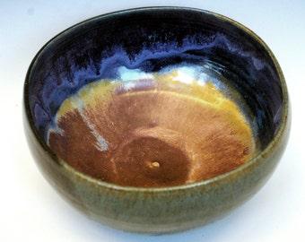 Deep earth rainbow bowl