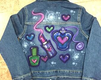 Custom Airbrushed Jean Jacket