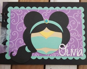 Personalized Disney Autograph Book Inspired by Jasmine