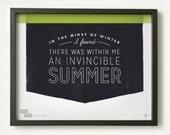 Albert Camus Quote - He Said She Said series | Graphic Design Typography Giclee Prints