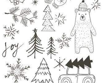 Rustic Christmas Cliparts