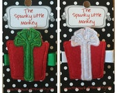 Present Embroidered Felt Clip by The Spunky Little Monkey