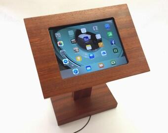 iPad Tall Kiosk / Case / Stand - Padauk Wood