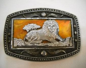 Vintage Lion CII New York Belt Buckle