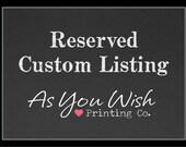 Reserved Custom Listing - Dorathy-Lea