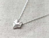 Fox Necklace in silver