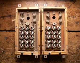 Vintage Electrical Call Box or Communications Box - Industrial Decor