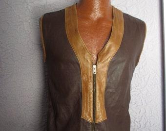 60's Vintage Hippie Mod Men's Vest Waistcoat sm/med