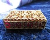Gold Filigree Pill Box