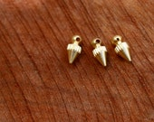 BRASS BEADS/ medium size brass spikes/ brass jewelry supplies