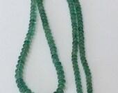 Emerald Polished Rondelles-Graduated