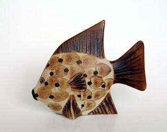 Mid-Century Sgrafo Keramik Fish Figurine 70s