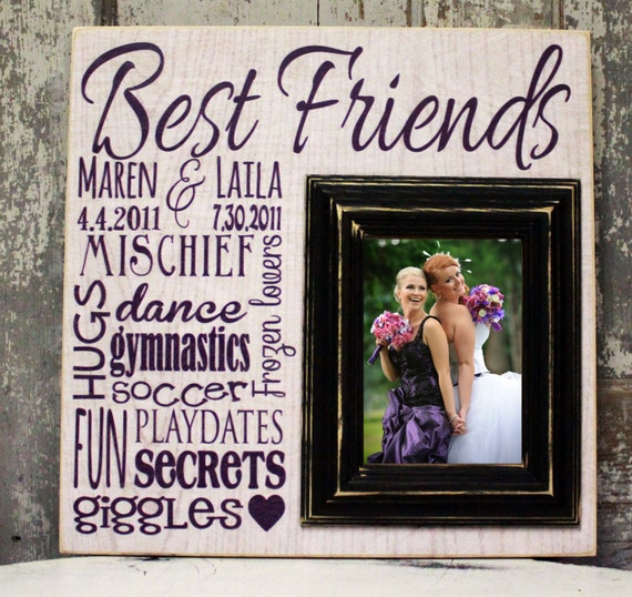 Best Gift For Friend S Wedding: Items Similar To Personalized Best Friends Picture Frame