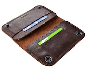 iPhone 7 leather case   iPhone 7 case   iPhone 7 wallet   iPhone 7 leather wallet case. Dark brown leather
