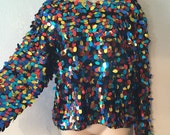 Multi Colored Vintage Sweater L Reseved