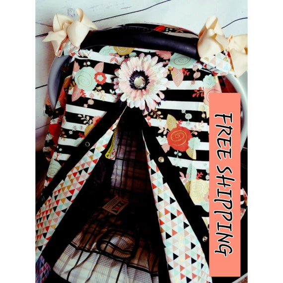 Carseat Canopy FREE SHIPPING CODE Cover Flower Diamond