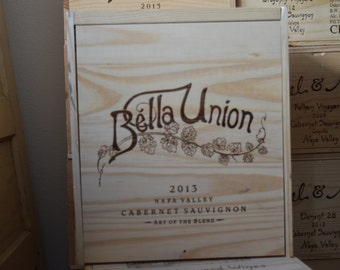 Bella Union- Nickel & Nickel Wine Crate/Tiny House Supply/ Napa Valley / Wedding Centerpiece / Wedding Decor/Wedding Card Holder