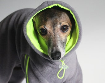 Italian Greyhound - SHADEDMOON DESIGN - Snowsuit with lined Snood/Neck Warmer and Hi- Viz safety trim - IMPORTANT - see - 'Item Details'