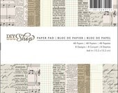 6x6 Patterned Paper Pad from American Crafts - Newspaper