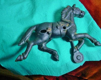 Cast Iron Horse Toy Part Antique Vintage Trotter