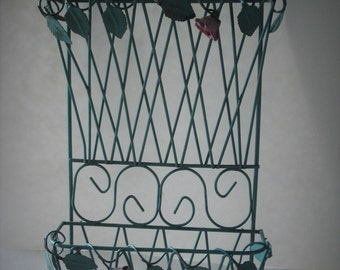 Double Metal Wire Wall Mount Basket.