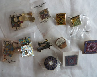 Lots of Vintage Pins- Quilters, Olympic Pins and Others, vintage, pins, quilters, quilt
