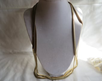"30"" Vintage Gold Snake Chain Necklace, Vintage, Snake, Gold Chain, Necklace"