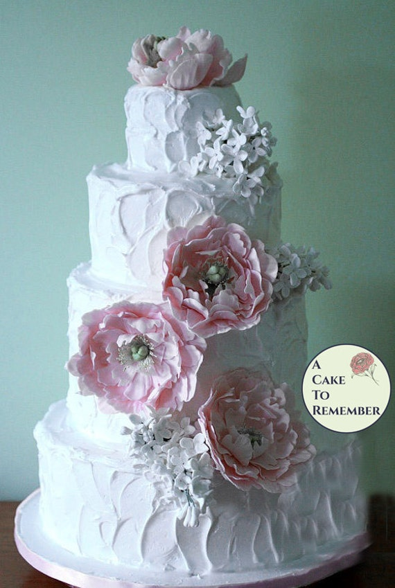 gumpaste flower wedding cake toppers gumpaste peonies and lilacs for wedding cake sugar flowers 15024