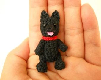 Mini Schipperke - Crochet Miniature Dog Stuffed Animals - Made To Order