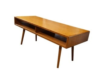 Solid Bamboo Mid Century Coffee Table - MADE TO ORDER