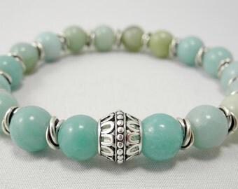 18 Stone Amazonite Bracelet