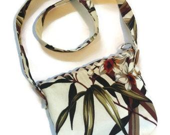Small shoulder bag , crossbody bag, reproduction bark cloth, handbag, purse