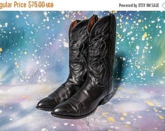 30% OFF Men's Black COWBOY Boot Size 10 .5