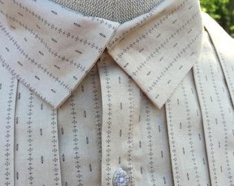 Mens Civil War Era /  Mid 19th C. Shirt - Made To Order
