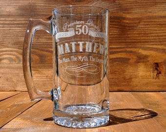 Beer Mug, Personalized Sport Mug, Birthday Beer Mug, Custom Engraved Beer Mug