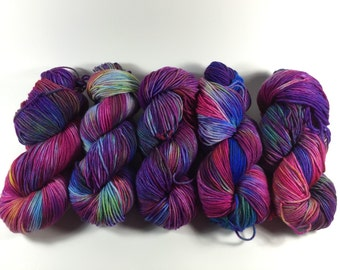 Light Worsted, DK, Superwash Merino, 100 grams, Hand Dyed Yarn, Beauty & Beyond, double knitting
