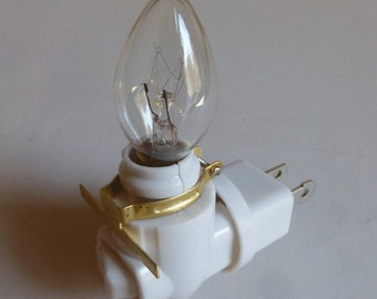 Swivel nightlight base - 7 watt bulb - brass clip