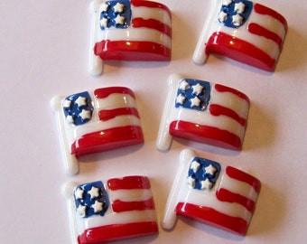 American Flag Cabochons Embellishments Lot of 2
