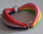 25% OFF - vintage colorful funky rainbow bracelet