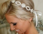 ON SALE Bridal Headband, Wedding Head Piece, CRYSTAL, Rhinestone Headband, Wedding Headband, Bridal Hair Piece, Bridal Headpiece, Rhinestone