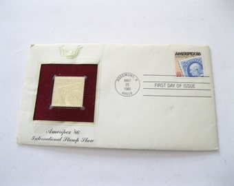 First Day of Issue Ameriplex '86 International Stamp Show Envelope First Day Cover FDC