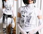 Visual Kei/Jrock/Punk/Goth ANGELIC TOP+WRAP+Glove White