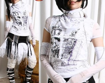 Visual Kei/Jrock/Punk/Goth ANGELIC TOP+WRAP+Glove White