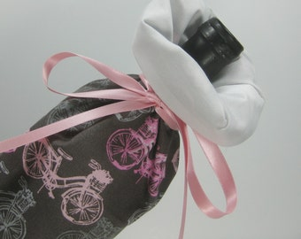 Pink Bicycles, Class Wrap Wine Gift Bag
